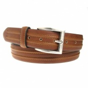 35mm Wide Bonded Leather Tan Jeans or Chinos Belt Style 8431
